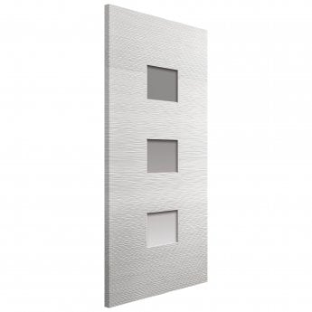 JB Kind Internal White Moulded Ripple Door With Clear Glass