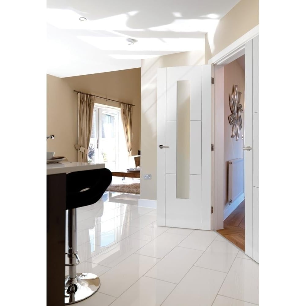 Internal White Primed Contemporary Mistral 1L Door with Clear Glass  sc 1 st  Leader Doors & JB Kind Internal White Primed Mistral Glazed Door | Leader Doors