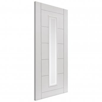 JB Kind Internal White Primed Limelight Barbican FD30 Fire Door With Etched Glass