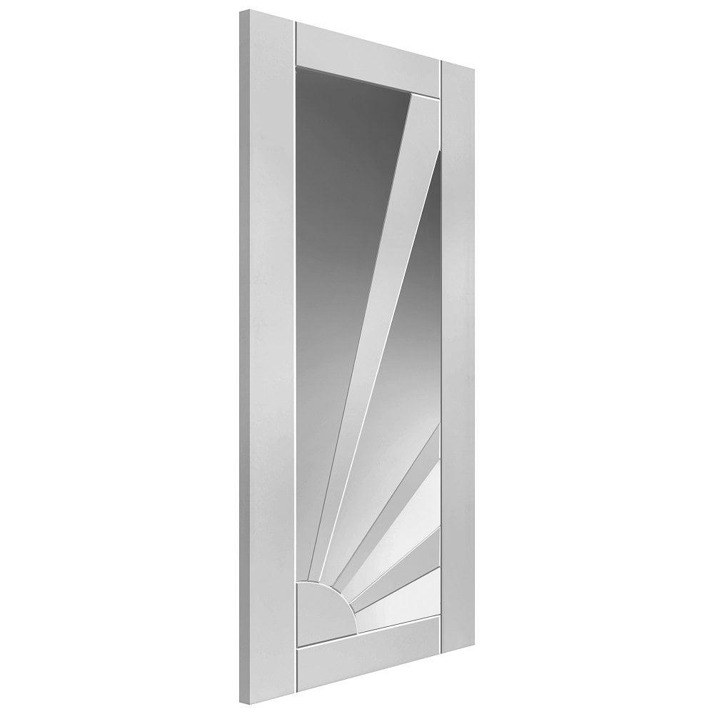 Internal White Primed Shaker Aurora Solid Door with Clear Glass  sc 1 st  Leader Doors & JB Kind Internal White Primed Aurora Door | Leader Doors