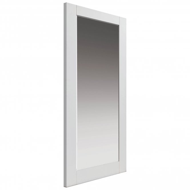JB Kind Internal White Primed Shaker Tobago 1L Solid Door with Clear Glass