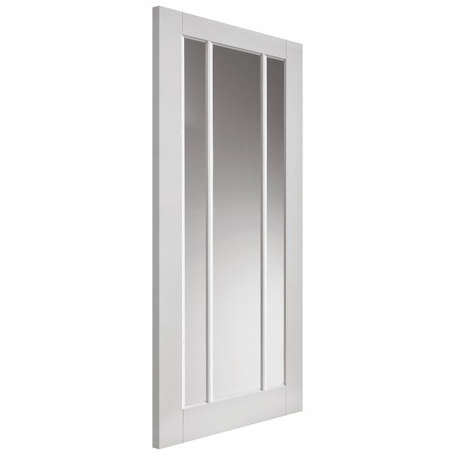 JB Kind Internal White Primed Shaker Trinidad 3L Solid Door with Clear Glass