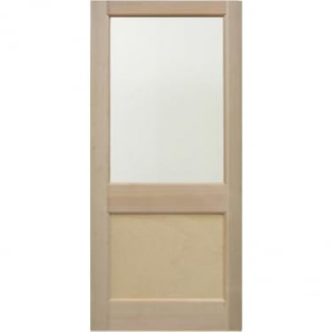 External Hemlock Unfinished E2XG 1L Unglazed Door
