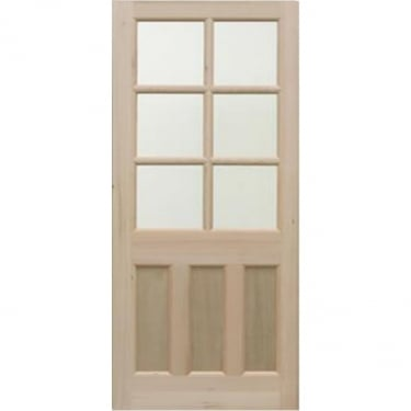 External Hemlock Unfinished EKXT 6L Unglazed Door