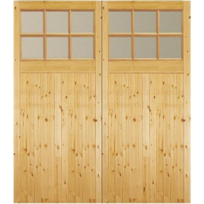 Jeld-Wen External Timber Side Hung GTG Factory Glazed Garage Door