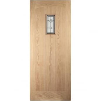 Jeld-Wen External White Oak Knightsbridge Croft Glazed Door