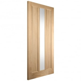 Jeld-Wen External White Oak Knightsbridge Lexington Obscure Glass Door