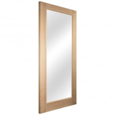 External White Oak Knightsbridge Lumina 1 Light Clear Glass Door