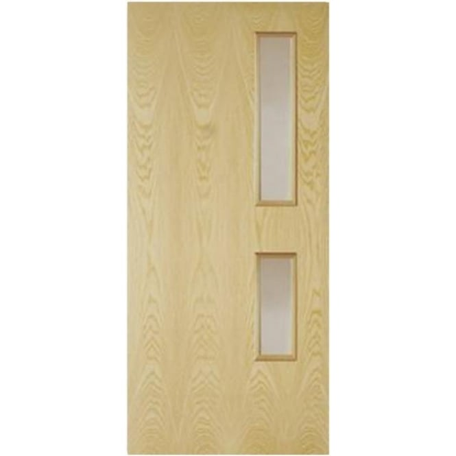 Jeld-Wen Internal Ash Crown Cut Clear GC05 Glass 44mm Fire Door