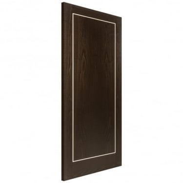 Internal Brown Ash Fully Finished Inlay Flush Heavyweight FD30 Fire Door