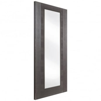 Jeld-Wen Internal Grey Fusion Panel 1 Light Clear Glass Door