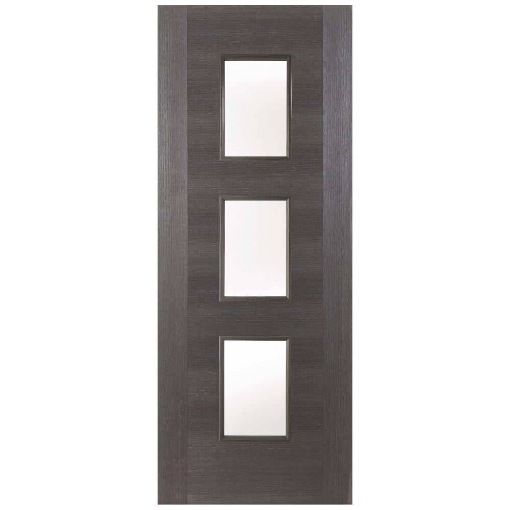 Jeld Wen Internal Grey Fusion Panel 3 Light Clear Glass