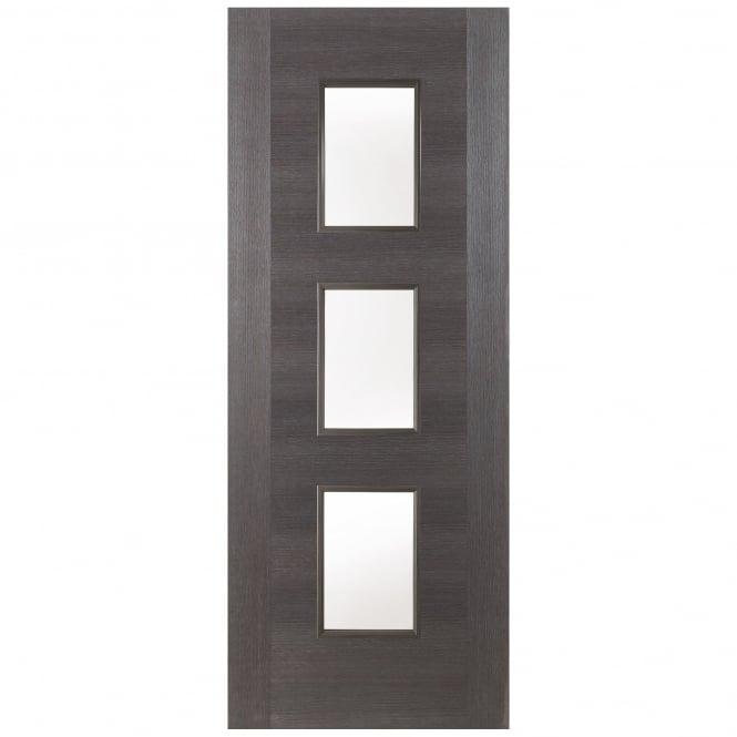 Jeld Wen Internal Grey Fusion Panel 3 Light Clear Glass