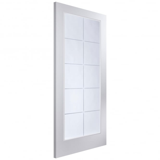 Jeld-Wen Internal White Moulded Arlington 10 Light Etch Glass Door