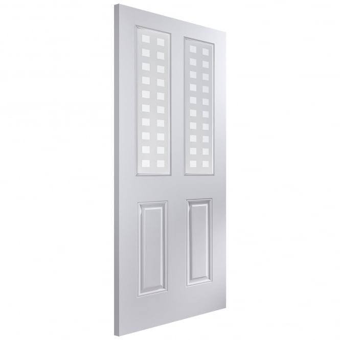 Jeld-Wen Internal White Moulded Arlington Geometric Glass Door