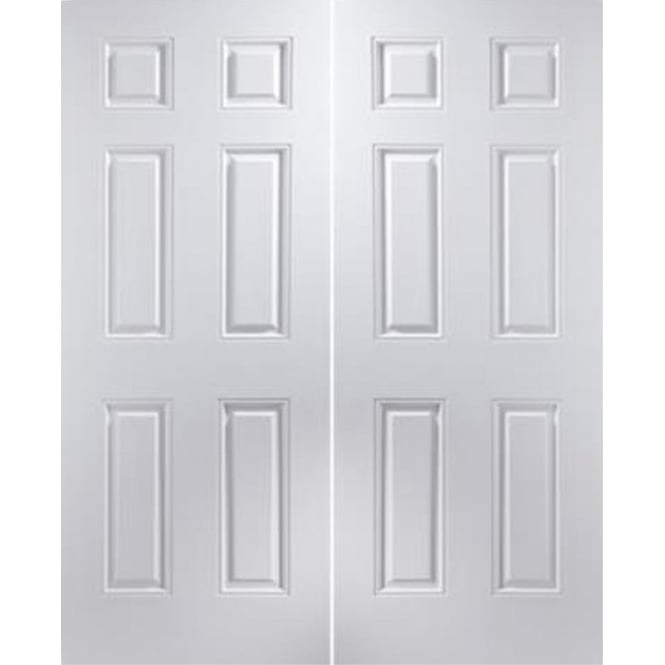 Jeld-Wen Internal White Moulded Arlington Pair Door