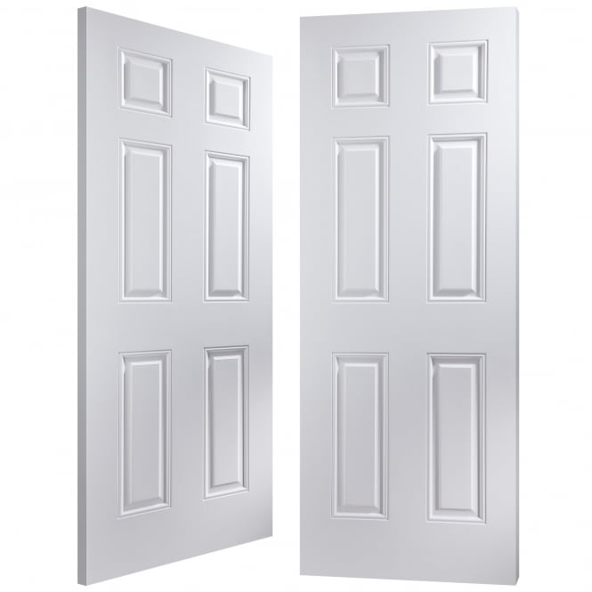 Internal White Moulded Arlington Pair Door