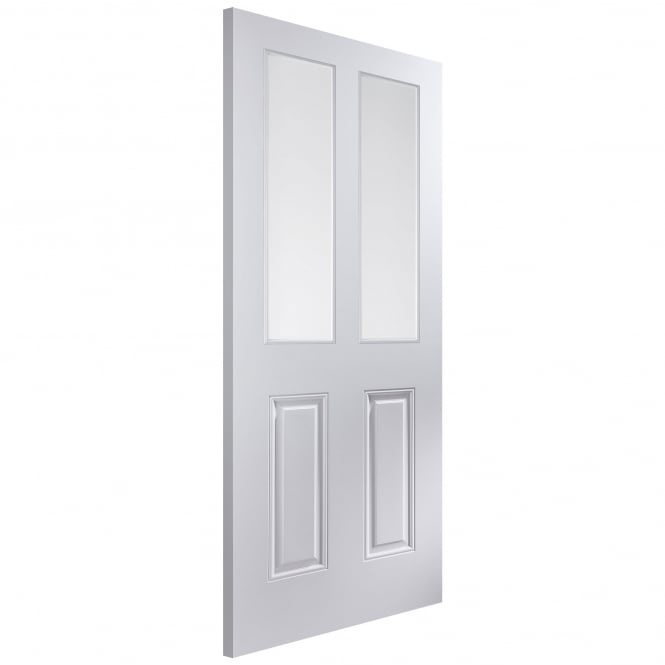 Jeld-Wen Internal White Moulded Atherton 2 Light Etch Glass Door