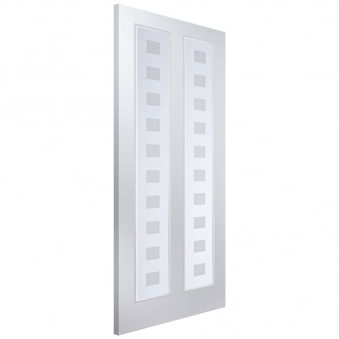 Jeld-Wen Internal White Moulded Atherton Vertical Geometric Glass Door