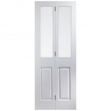 Jeld-Wen Internal White Moulded Bostonian/Oakfield Clear Glass Bi-Fold Door