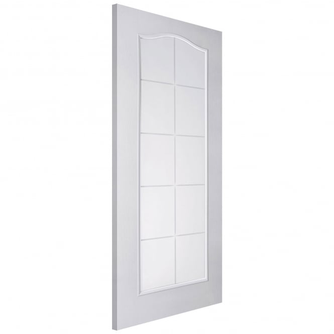 Internal White Moulded Camden 10 Light Etch Clear Glass Door