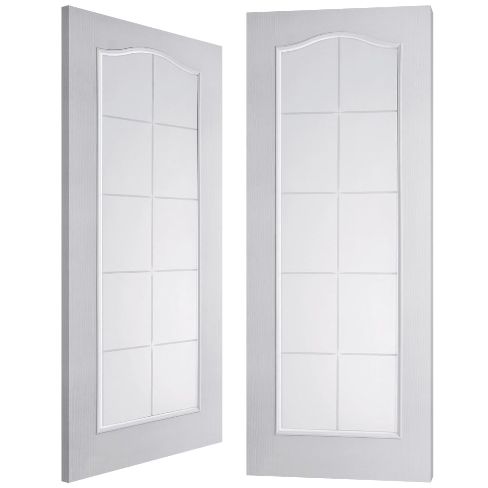 Internal white moulded camden 10 light etch clear pair for 10 light door