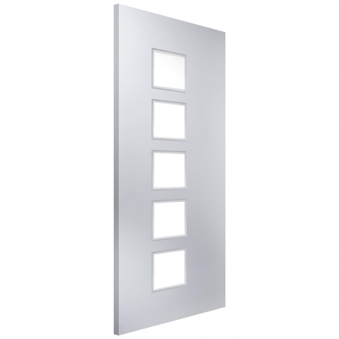 Jeld-Wen Internal White Moulded Cube 5 Light Etch Glass Door