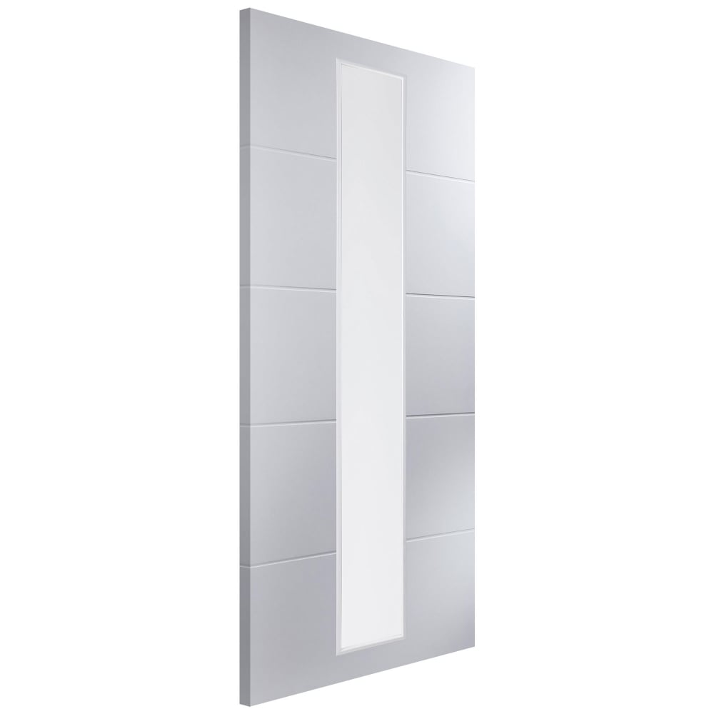 Jeld-Wen Linea White Moulded Clear Glass 1 Light Internal Door ...