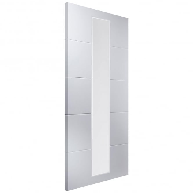 Jeld-Wen Internal White Moulded Linea 1 Light Etch Glass Door