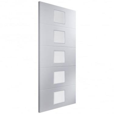 Jeld-Wen Internal White Moulded Linea 5 Light Etch Glass Door