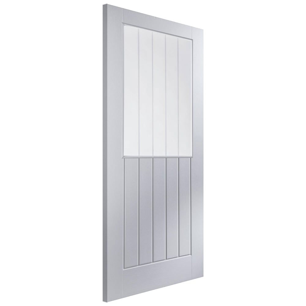 Jeld Wen Newark White Moulded Decorative Glass Internal Door Leader Doors