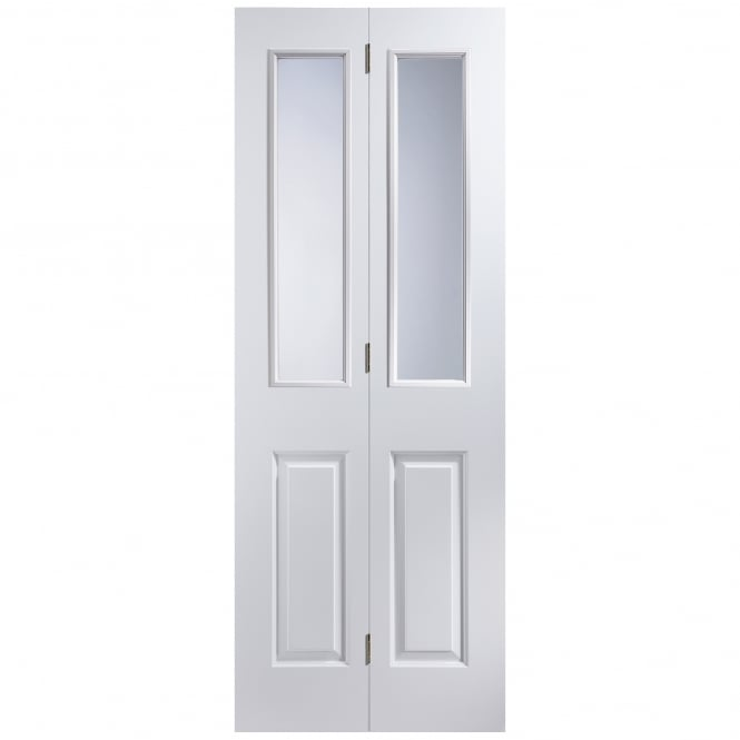 Jeld-Wen Internal White Moulded Unfinished Atherton 2L Bi-Fold Door with Clear Glass