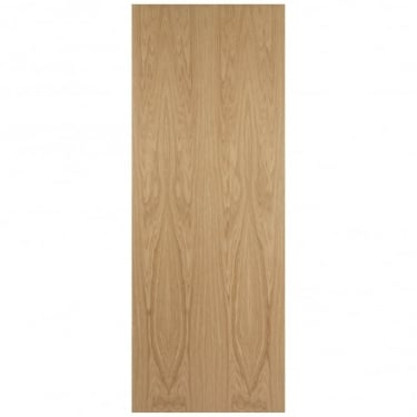 Internal White Oak Crown Cut 54mm Fire Door