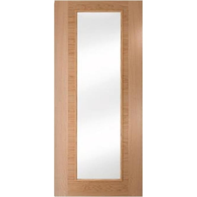 Jeld-Wen Internal White Oak Fusion Heavyweight 1 Light Clear Glass Door