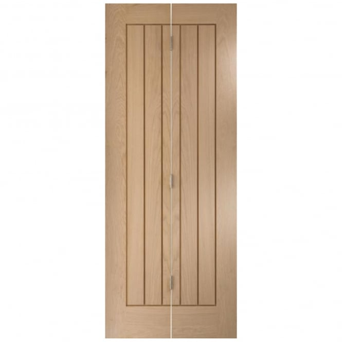 Jeld-Wen Internal White Oak Oregon Cottage Bi-Fold Door