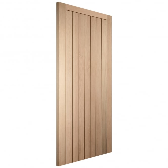 Jeld-Wen Internal White Oak Oregon Framed Ledged & Braced Door