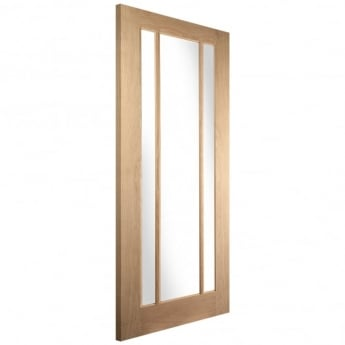 Jeld-Wen Internal White Oak Worcester Clear Glass Door