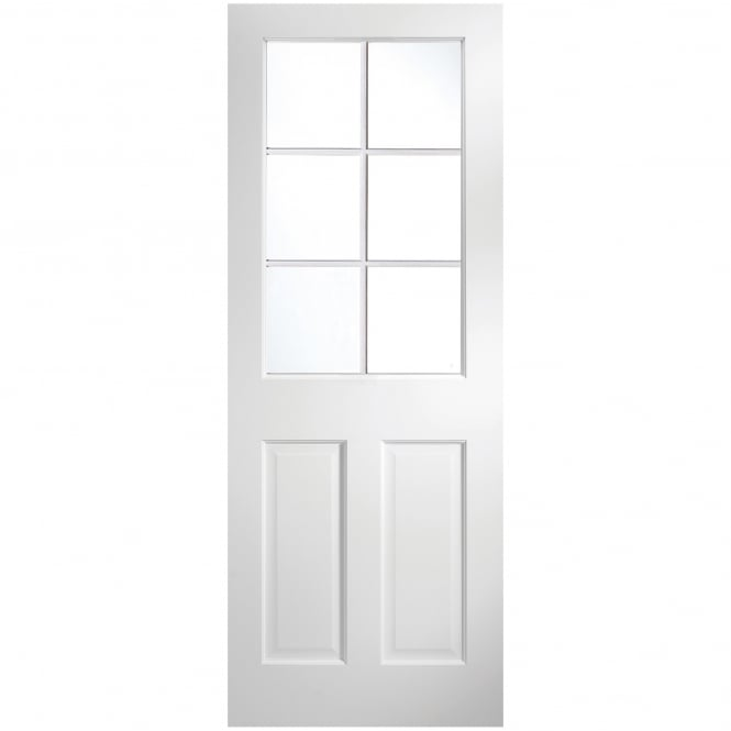 Jeld-Wen Internal White Primed Avesta 6 Light Clear Glass Door