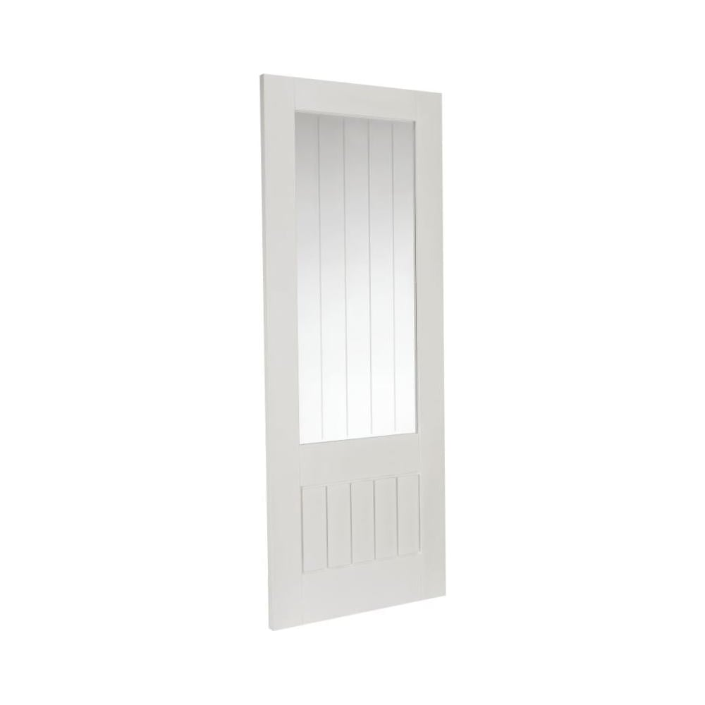 Jeld wen cottage white primed decorative glass internal - White doors with glass internal ...