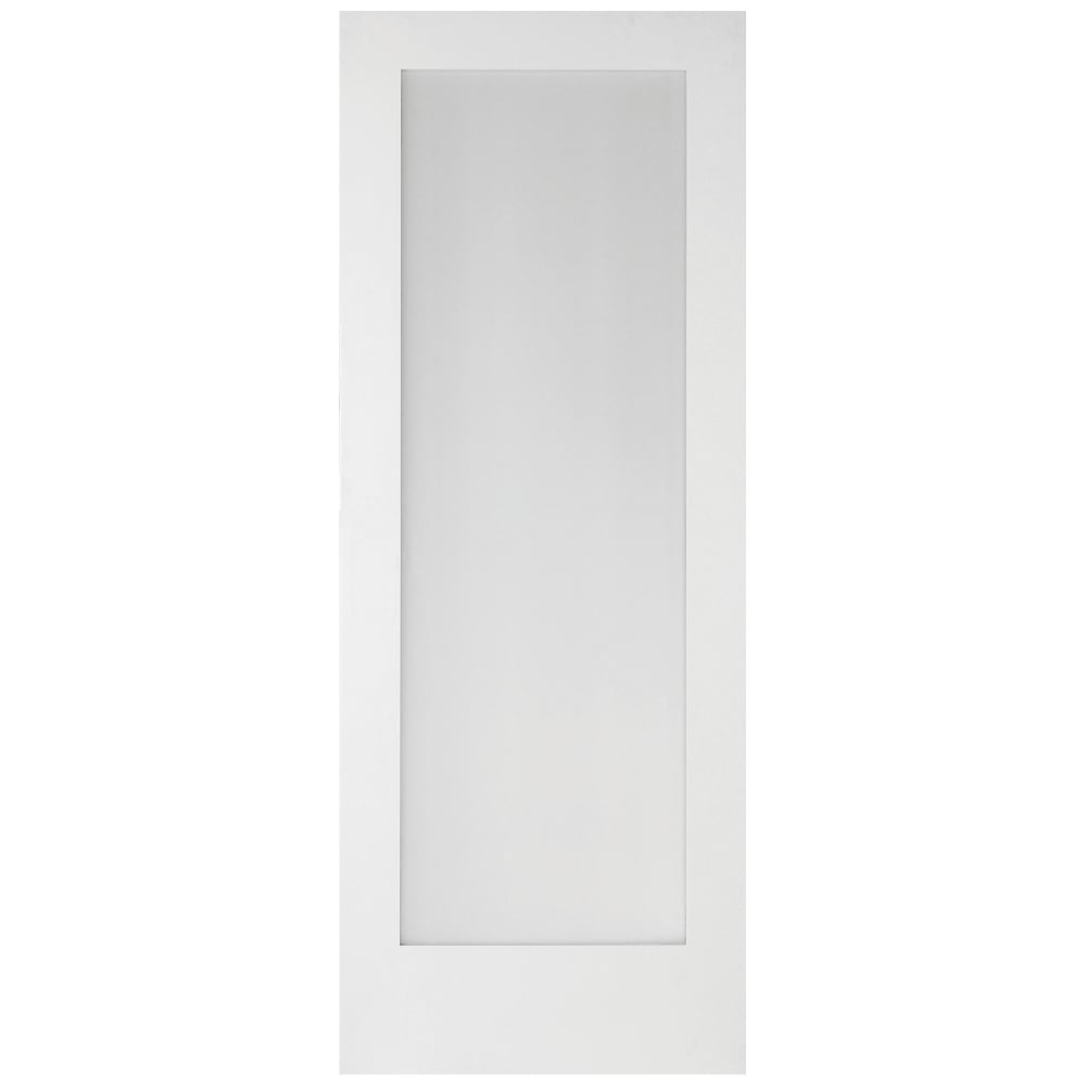 Jeld wen shaker white primed obscure glass 1 light - White doors with glass internal ...