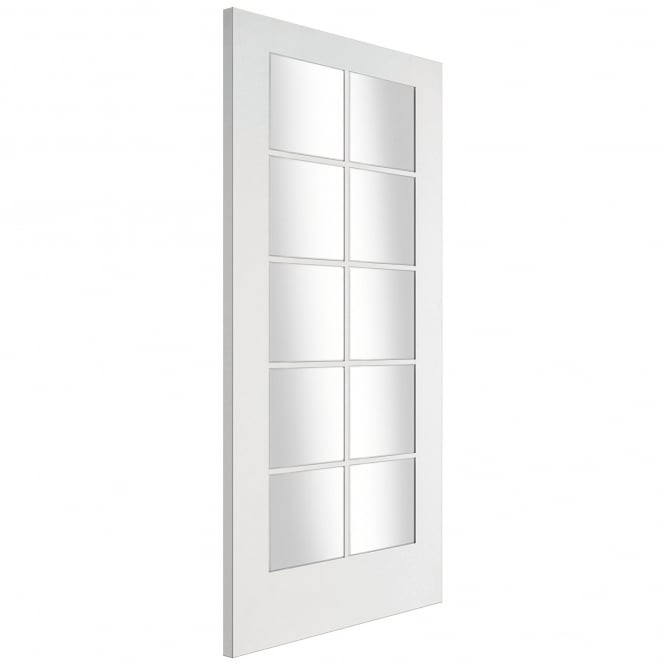 Jeld-Wen Internal White Primed Shaker 10 Light Clear Glass Door