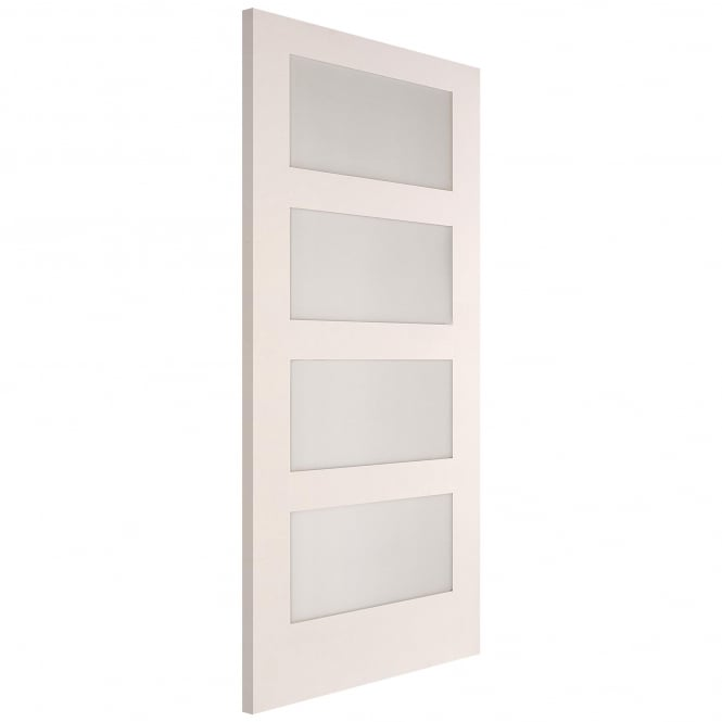 Jeld-Wen Internal White Primed Shaker 4 Light Clear Glass Door