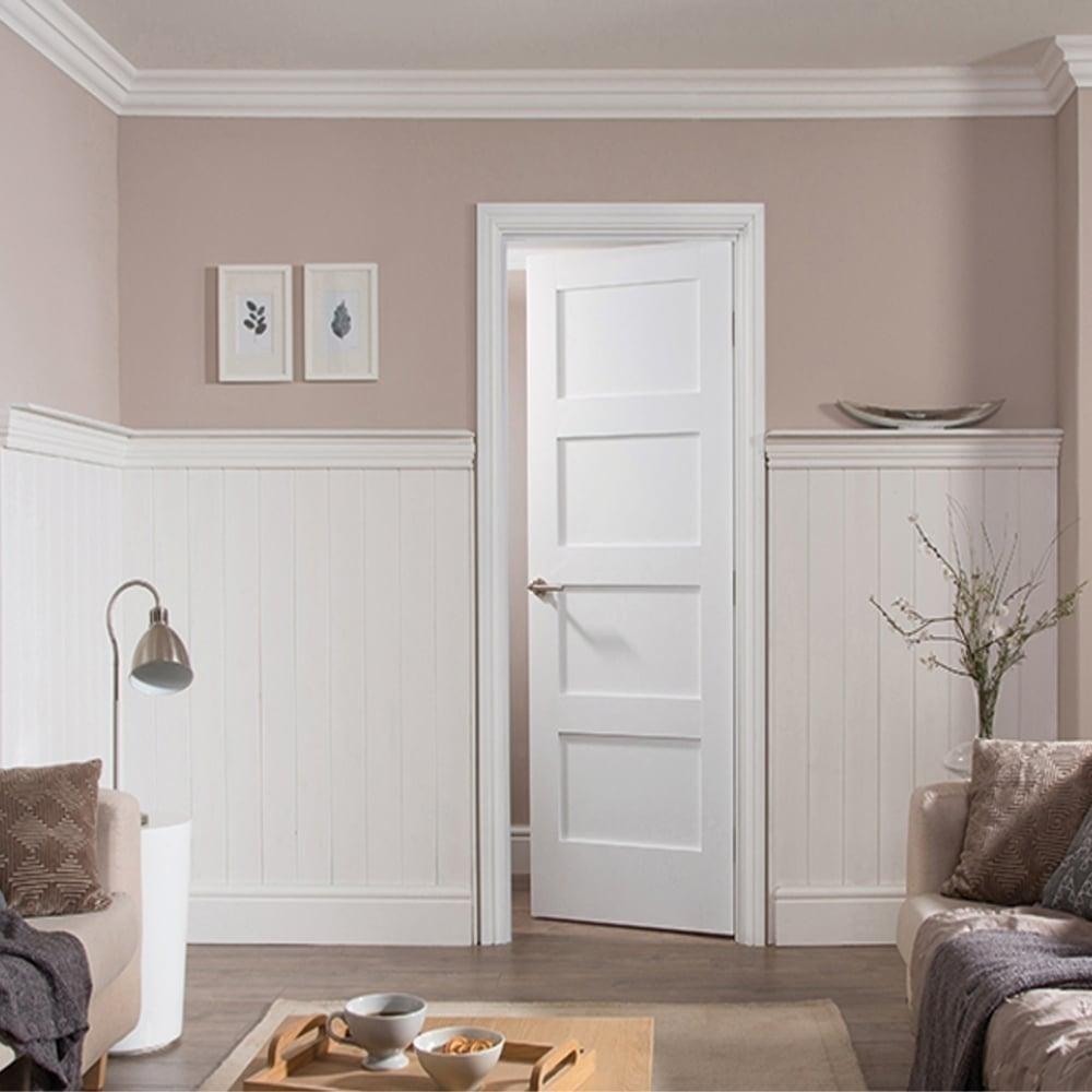 Canterbury 4 Panel Dsn Fire Pocket Door Is 1 2 Hour Fire Rated And - Internal white primed shaker 4 panel door