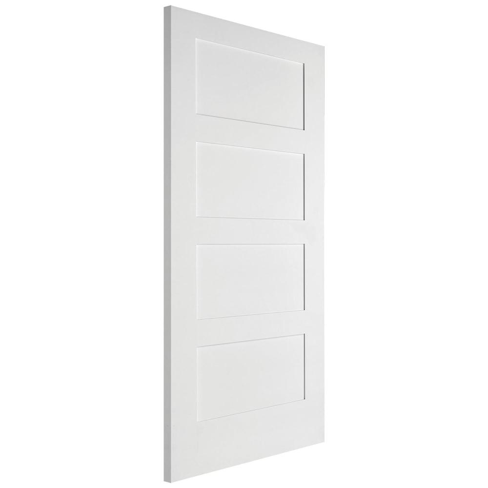 Jeld Wen Internal White Primed Shaker 4p Door Leader Doors