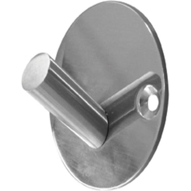 JPS902A Polished Stainless Steel Single Robe Hook