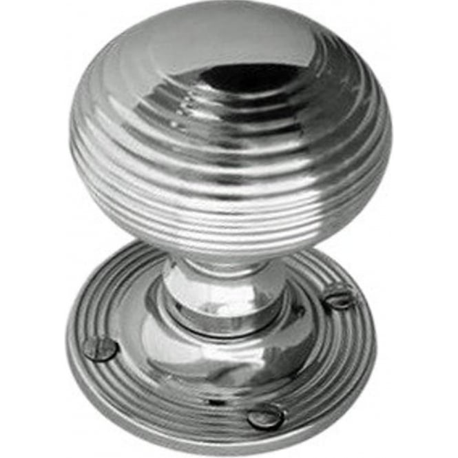 Frelan Hardware JR6MPC Polished Chrome Reeded Mortice Knob