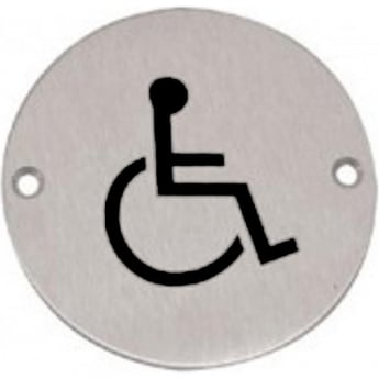 Frelan Hardware JS104SAA Satin Anodised Aluminium Disabled Pictogram Disc