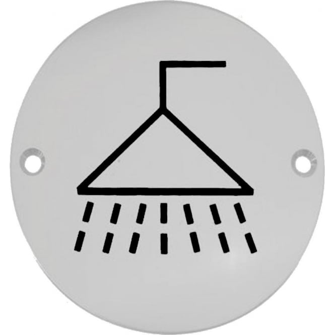 Frelan Hardware JS106PSS Polished Stainless Steel Shower Pictogram Disc