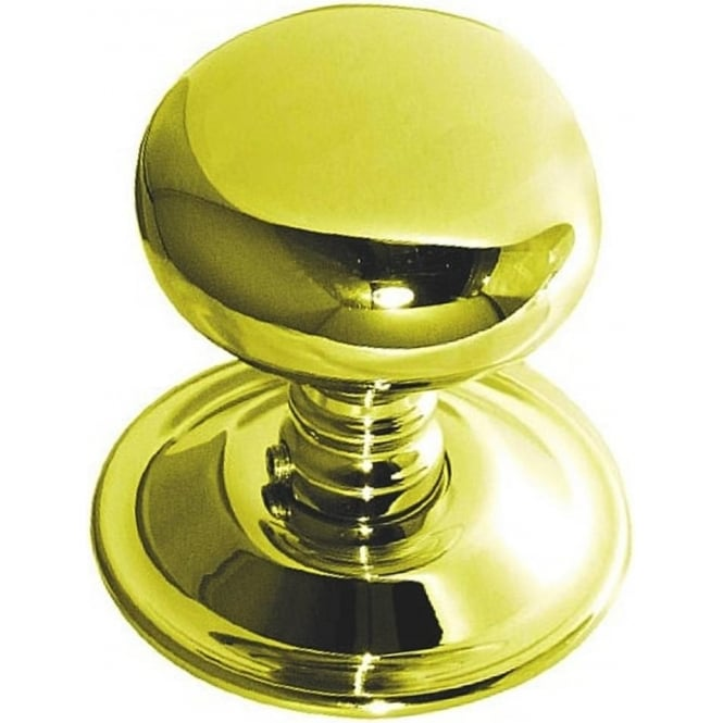 Frelan Hardware JV46PB Polished Brass Mushroom Mortice Knob
