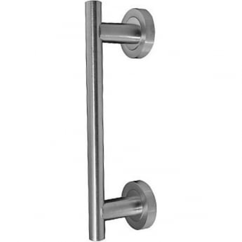 Frelan Hardware JV51SC Satin Chrome Pull Handle On Rose